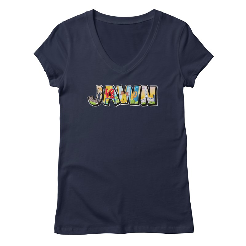 JAWN Women's V-Neck by TwistedPhillyPodcast's Shop