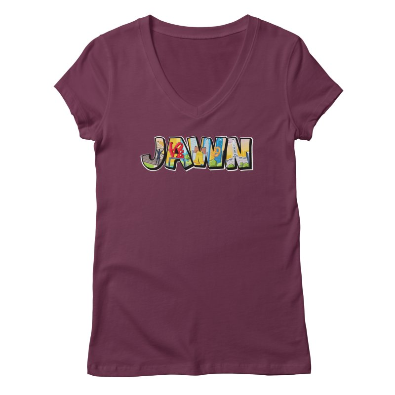 JAWN Women's Regular V-Neck by TwistedPhillyPodcast's Shop