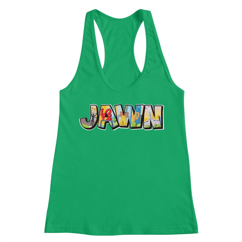 JAWN Women's Racerback Tank by TwistedPhillyPodcast's Shop