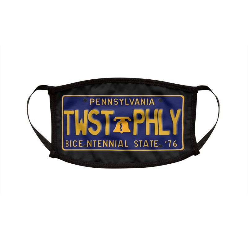 Twisted License Plate Accessories Face Mask by TwistedPhillyPodcast's Shop