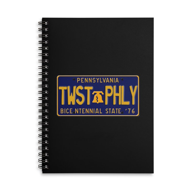 Twisted License Plate Accessories Lined Spiral Notebook by TwistedPhillyPodcast's Shop