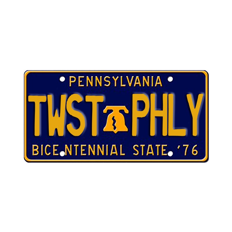 Twisted License Plate Accessories Sticker by TwistedPhillyPodcast's Shop