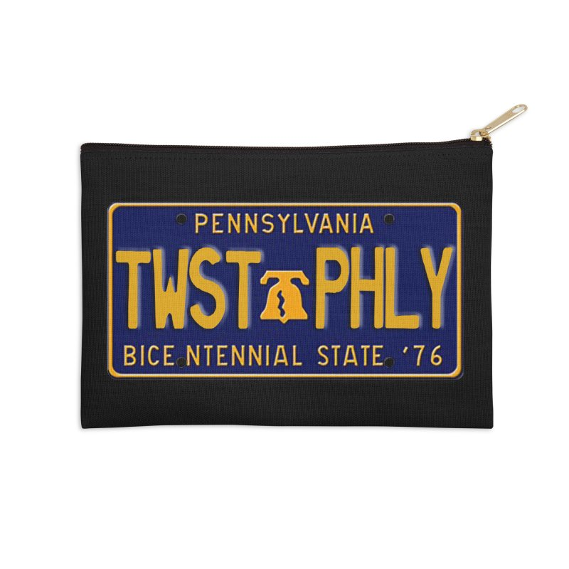 Twisted License Plate Accessories Zip Pouch by TwistedPhillyPodcast's Shop