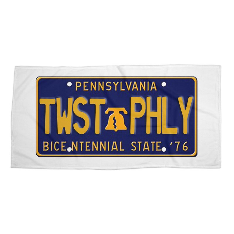 Twisted License Plate Accessories Beach Towel by TwistedPhillyPodcast's Shop