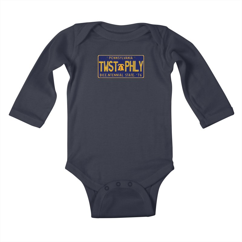 Twisted License Plate Kids Baby Longsleeve Bodysuit by TwistedPhillyPodcast's Shop