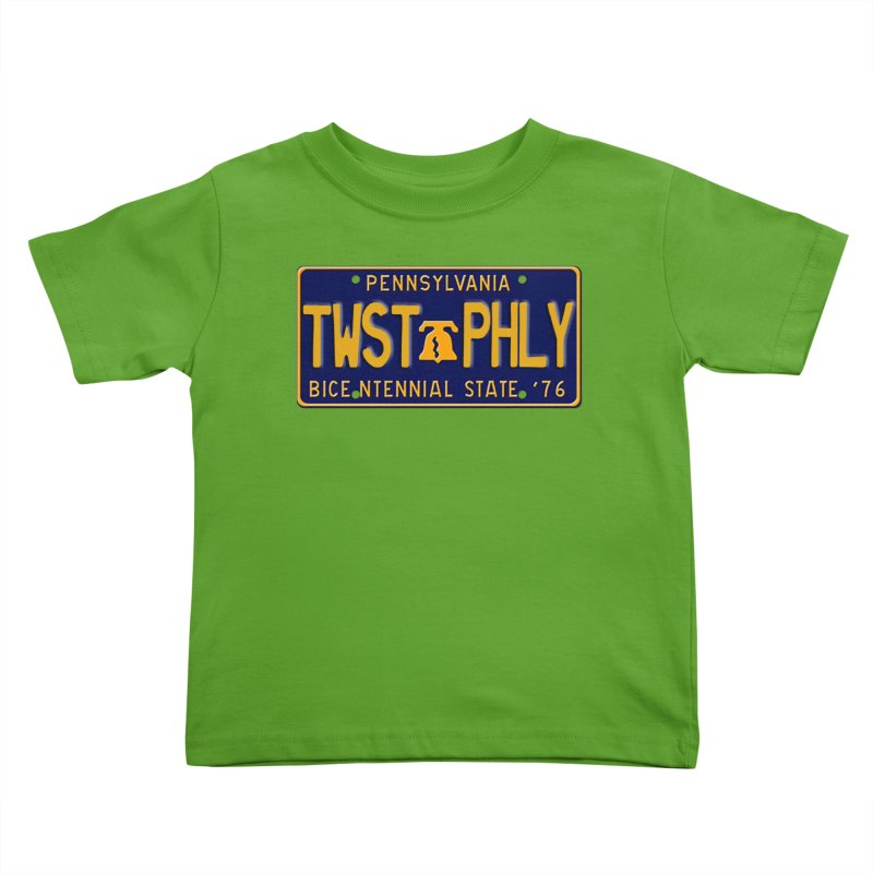 Twisted License Plate Kids Toddler T-Shirt by TwistedPhillyPodcast's Shop