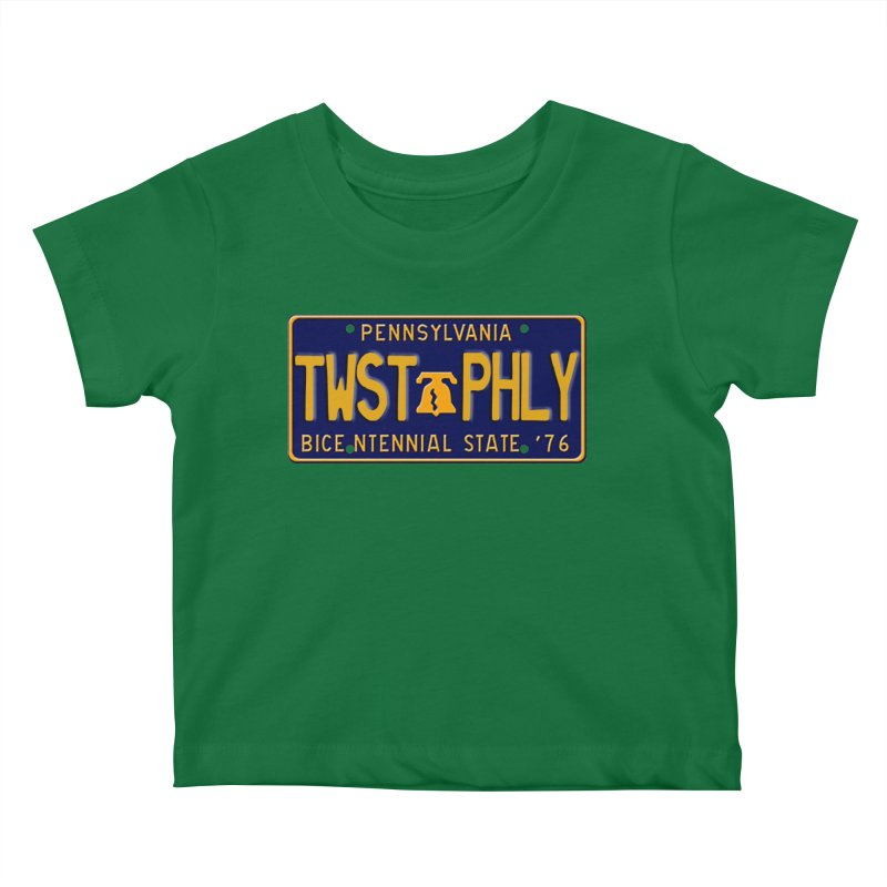 Twisted License Plate Kids Baby T-Shirt by TwistedPhillyPodcast's Shop