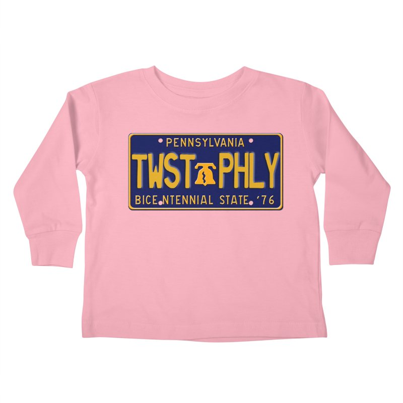 Twisted License Plate Kids Toddler Longsleeve T-Shirt by TwistedPhillyPodcast's Shop