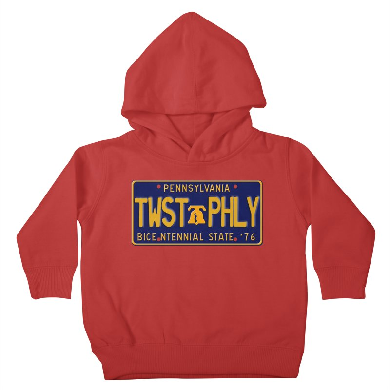 Twisted License Plate Kids Toddler Pullover Hoody by TwistedPhillyPodcast's Shop