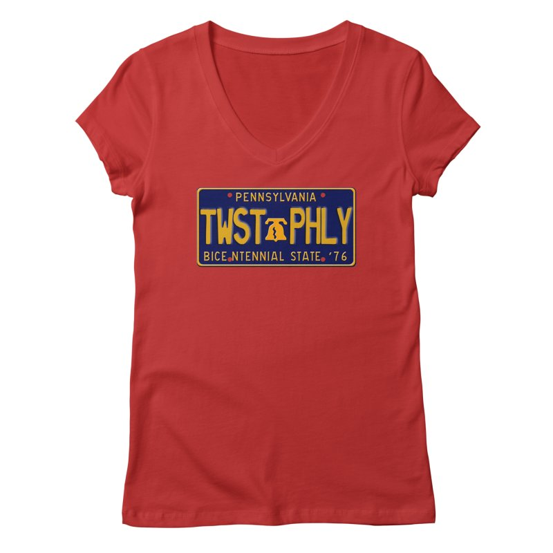 Twisted License Plate Women's Regular V-Neck by TwistedPhillyPodcast's Shop