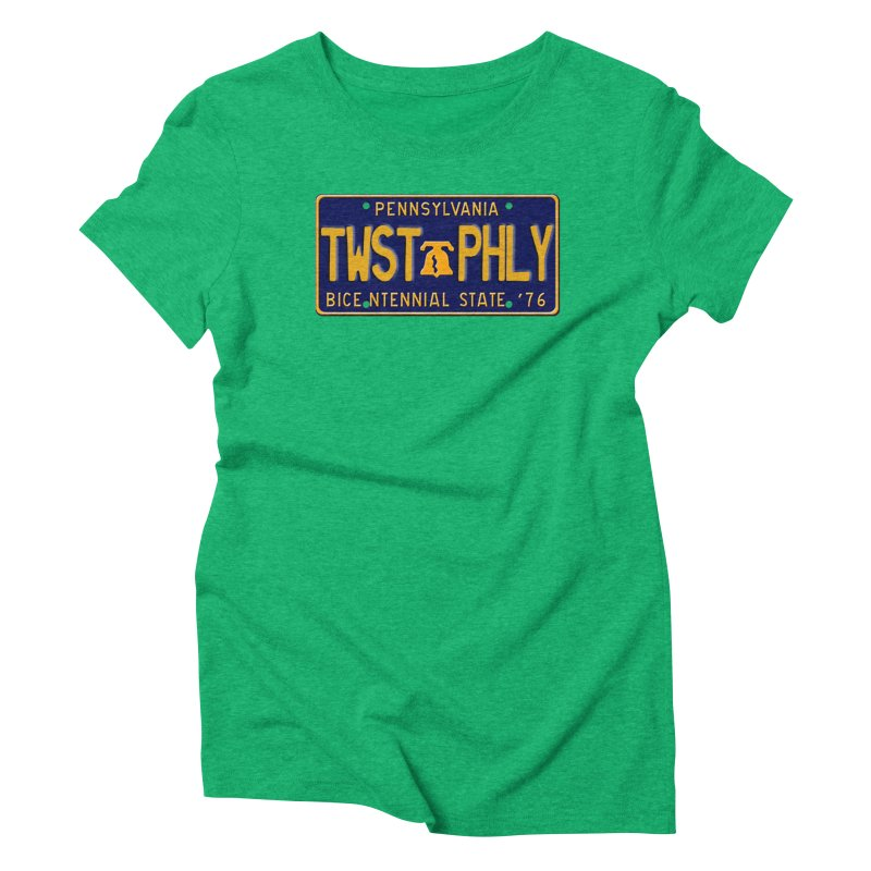 Twisted License Plate Women's Triblend T-Shirt by TwistedPhillyPodcast's Shop