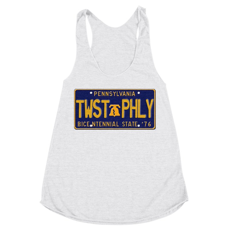Twisted License Plate Women's Racerback Triblend Tank by TwistedPhillyPodcast's Shop
