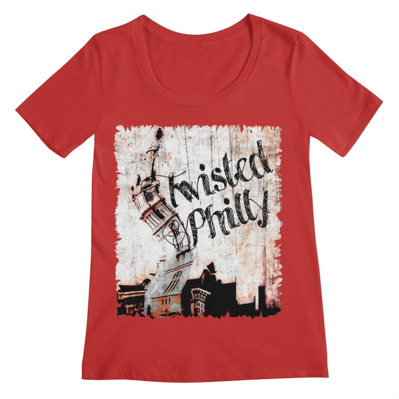 Twisted Philly Logo Women's Regular Scoop Neck by TwistedPhillyPodcast's Shop