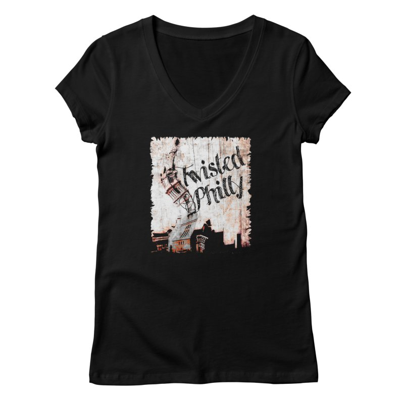 Twisted Philly Logo in Women's Regular V-Neck Black by TwistedPhillyPodcast's Shop