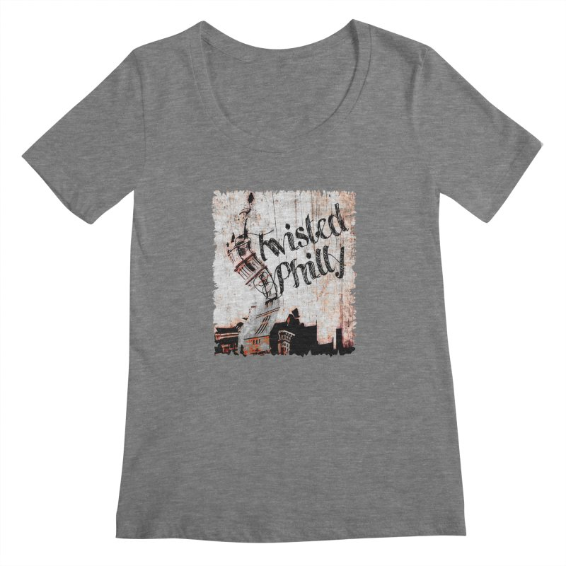 Twisted Philly Logo Women's Scoopneck by TwistedPhillyPodcast's Shop