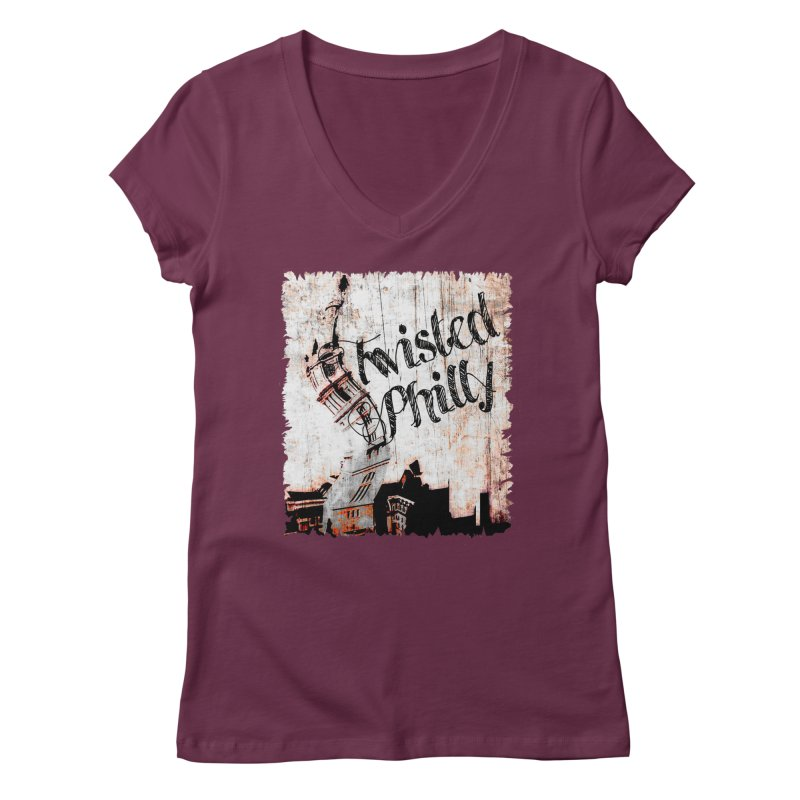 Twisted Philly Logo Women's Regular V-Neck by TwistedPhillyPodcast's Shop