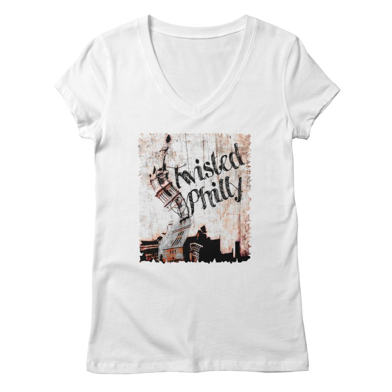 Twisted Philly Logo Women's V-Neck by TwistedPhillyPodcast's Shop