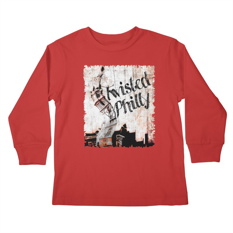 Twisted Philly Logo Kids Longsleeve T-Shirt by TwistedPhillyPodcast's Shop