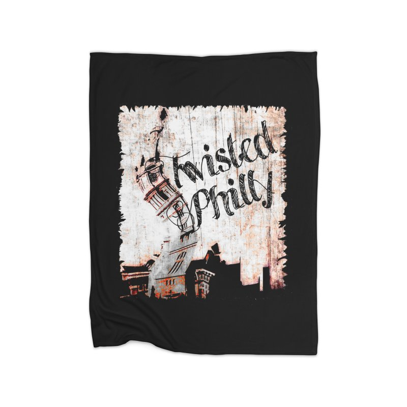 Twisted Philly Logo Home Fleece Blanket Blanket by TwistedPhillyPodcast's Shop