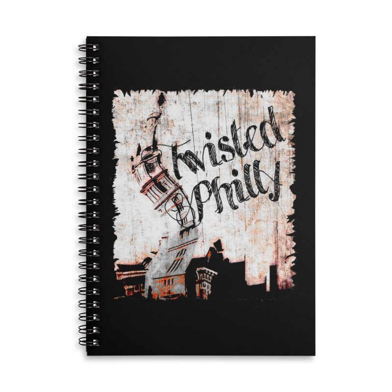 Twisted Philly Logo Accessories Lined Spiral Notebook by TwistedPhillyPodcast's Shop