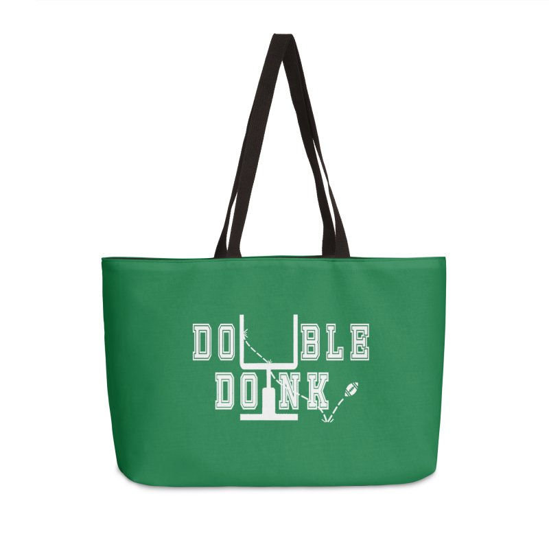 The Double Doink Accessories Weekender Bag Bag by TwistedPhillyPodcast's Shop