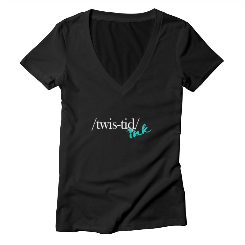 Twistid teal Women's V-Neck by Twistid ink's Artist Shop