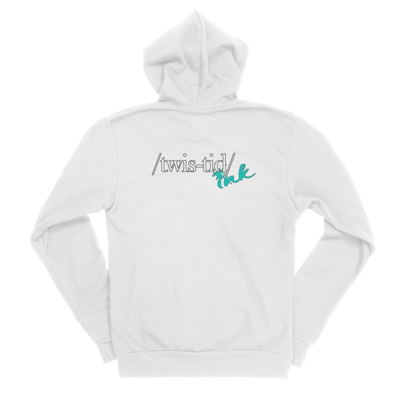 Twistid teal Men's Zip-Up Hoody by Twistid ink's Artist Shop