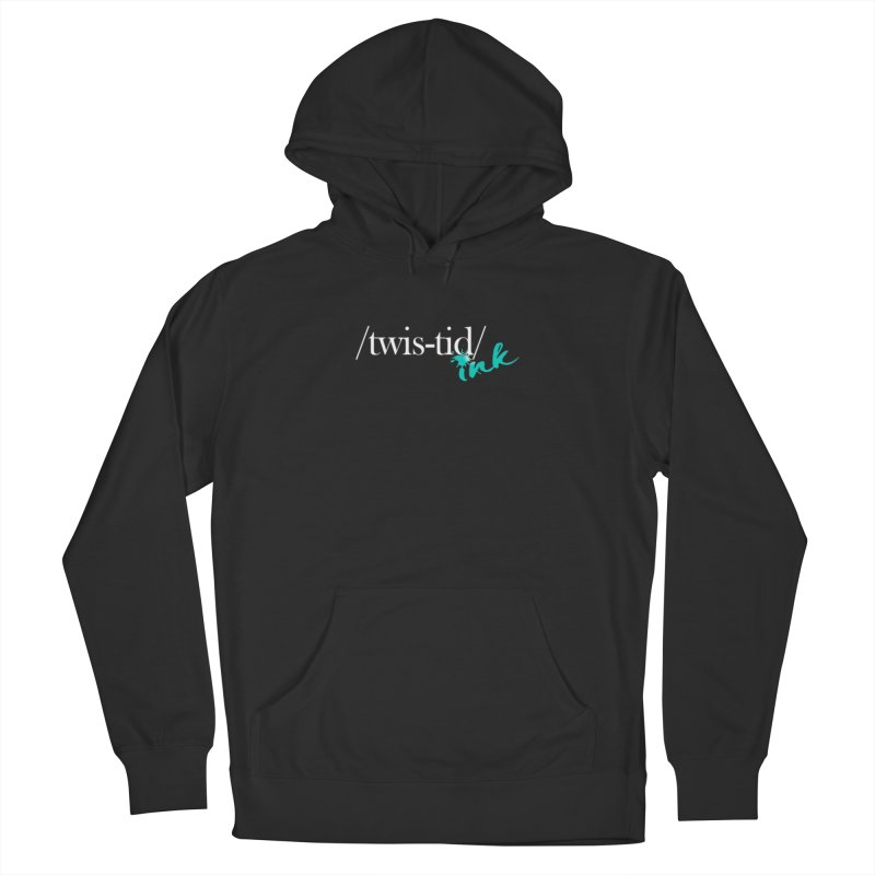 Twistid teal Women's French Terry Pullover Hoody by Twistid ink's Artist Shop