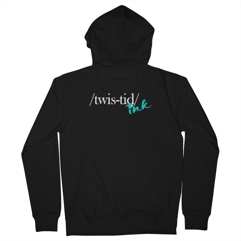 Twistid teal Women's French Terry Zip-Up Hoody by Twistid ink's Artist Shop