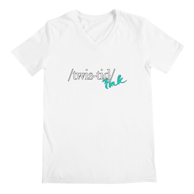 Twistid teal Men's V-Neck by Twistid ink's Artist Shop