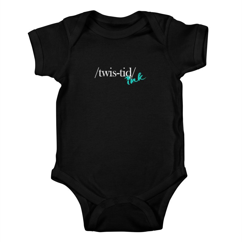 Twistid teal Kids Baby Bodysuit by Twistid ink's Artist Shop