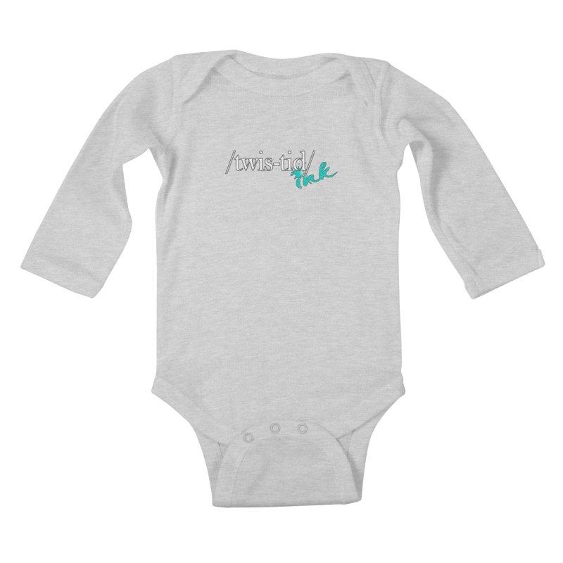 Twistid teal Kids Baby Longsleeve Bodysuit by Twistid ink's Artist Shop