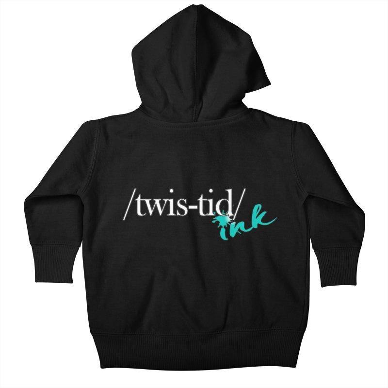 Twistid teal Kids Baby Zip-Up Hoody by Twistid ink's Artist Shop