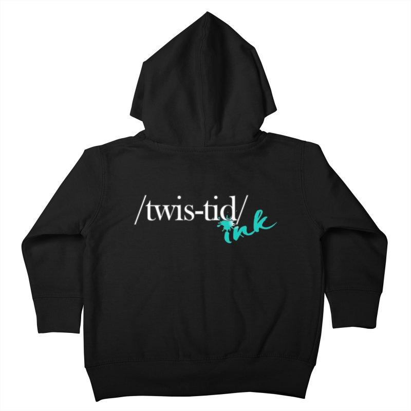Twistid teal Kids Toddler Zip-Up Hoody by Twistid ink's Artist Shop