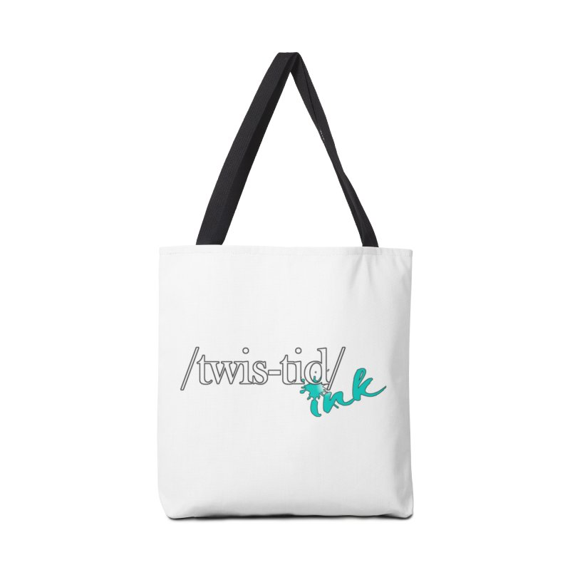 Twistid teal Accessories Bag by Twistid ink's Artist Shop
