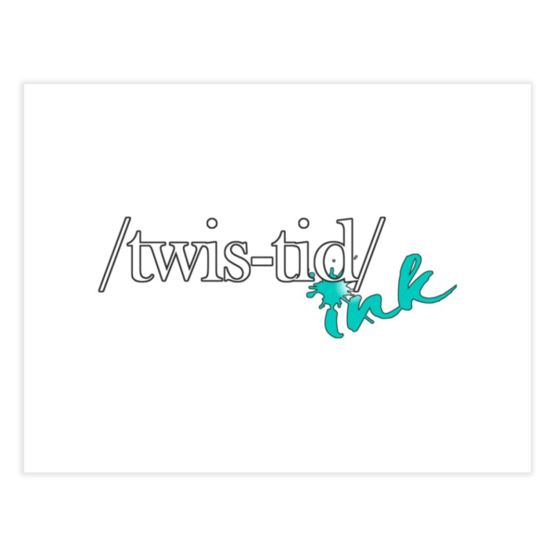 Twistid teal Home Fine Art Print by Twistid ink's Artist Shop