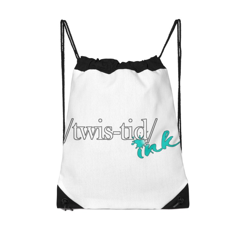 Twistid teal Accessories Bag by Twistid ink's Artist Shop