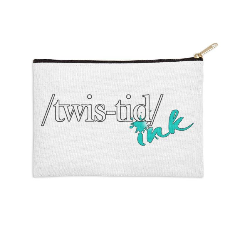 Twistid teal Accessories Zip Pouch by Twistid ink's Artist Shop