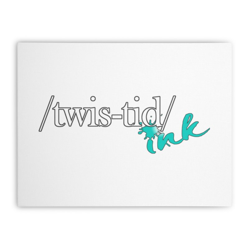 Twistid teal Home Stretched Canvas by Twistid ink's Artist Shop