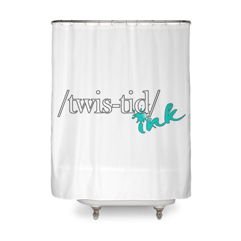 Twistid teal Home Shower Curtain by Twistid ink's Artist Shop