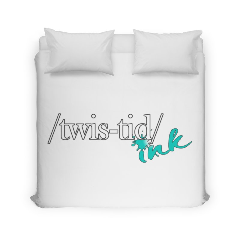 Twistid teal Home Duvet by Twistid ink's Artist Shop