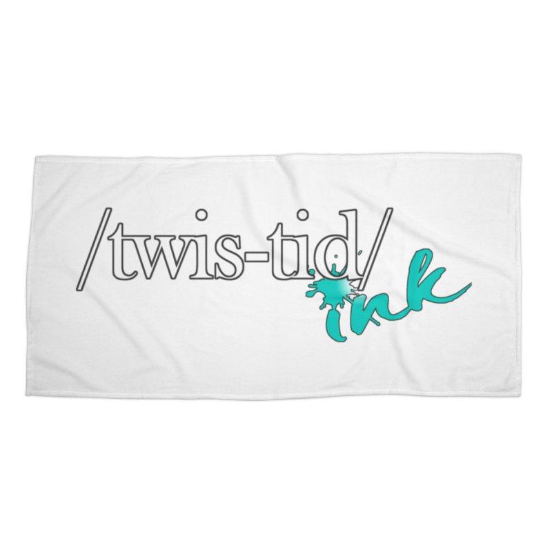 Twistid teal Accessories Beach Towel by Twistid ink's Artist Shop
