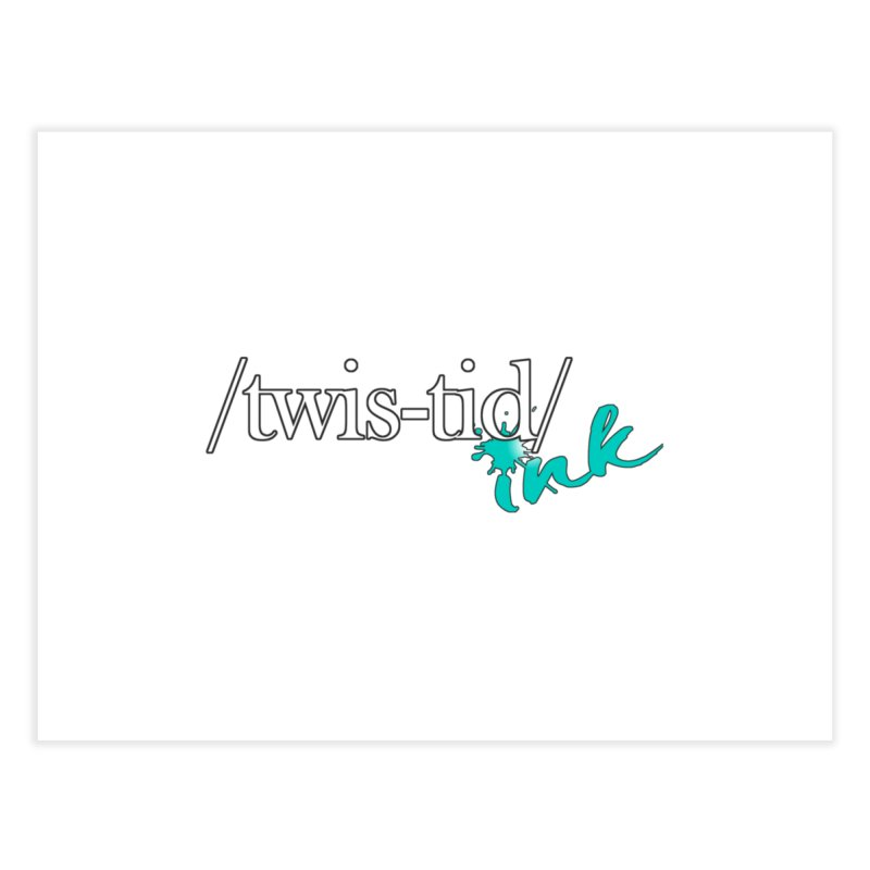 Twistid teal Home Fine Art Print by Twistid ink's Artist Shop