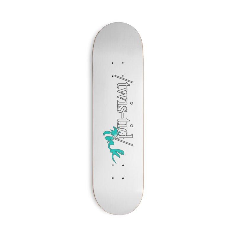 Twistid teal Accessories Skateboard by Twistid ink's Artist Shop