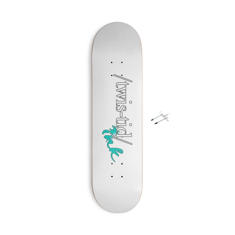 Twistid teal Accessories With Hanging Hardware Skateboard by Twistid ink's Artist Shop