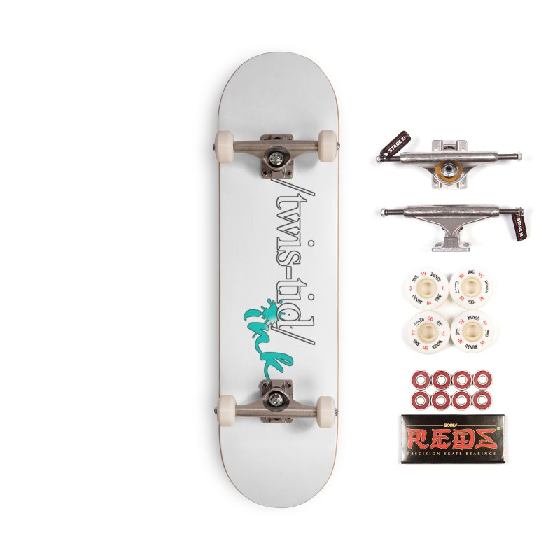 Twistid teal Accessories Complete - Pro Skateboard by Twistid ink's Artist Shop