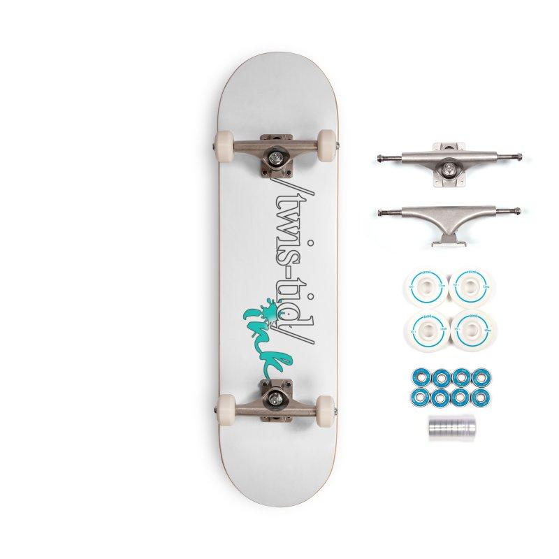 Twistid teal Accessories Complete - Basic Skateboard by Twistid ink's Artist Shop