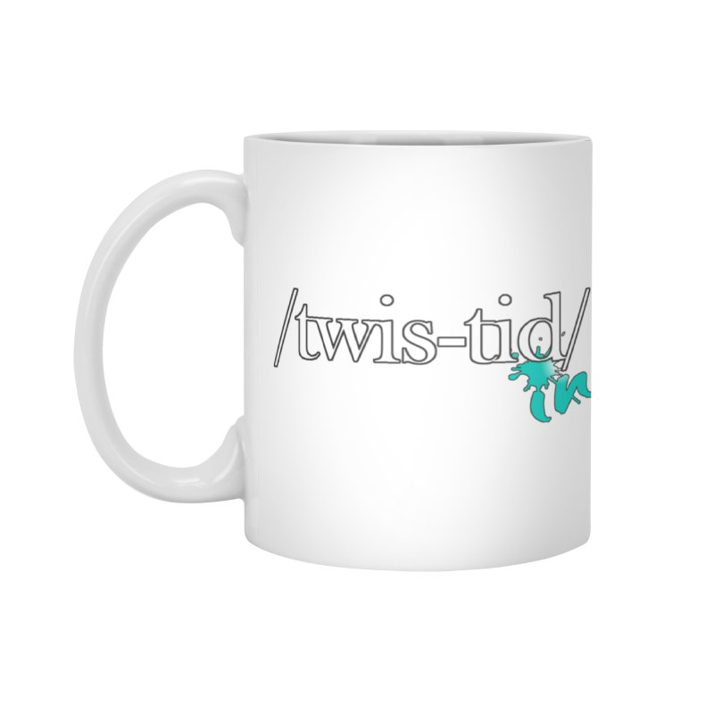 Twistid teal Accessories Mug by Twistid ink's Artist Shop