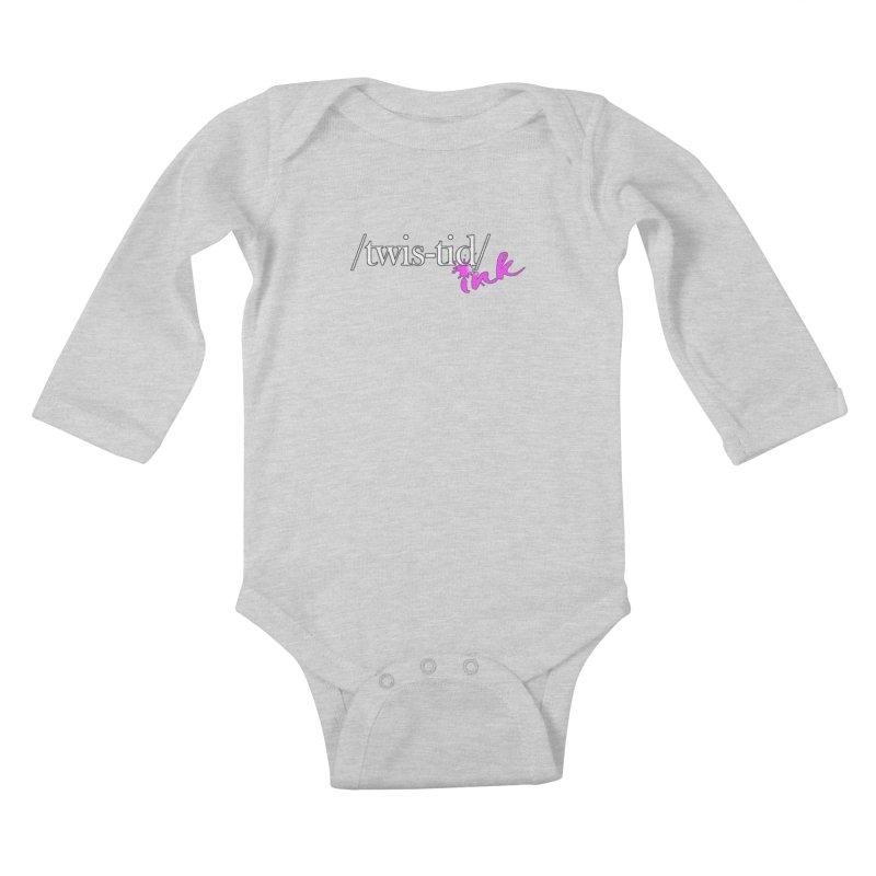 Twistid pink Kids Baby Longsleeve Bodysuit by Twistid ink's Artist Shop