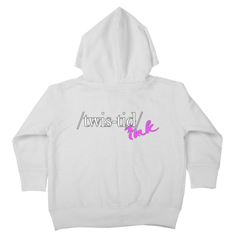 Twistid pink Kids Toddler Zip-Up Hoody by Twistid ink's Artist Shop